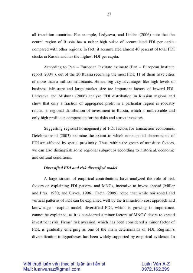 a study on impact of fdi Impact of foreign direct investment on indian fdi the study also pointed out that the presence of epz worked as a relevant pull factor for export oriented fdi.