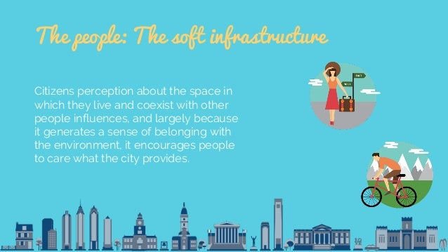 The people: The soft infrastructure Citizens perception about the space in which they live and coexist with other people i...
