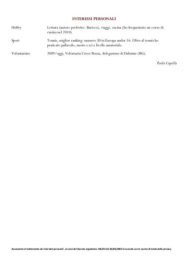 Acconsento al trattamento dei miei dati personali , ai sensi del Decreto Legislativo 196/03 del 30/06/2003 in accordo con ...