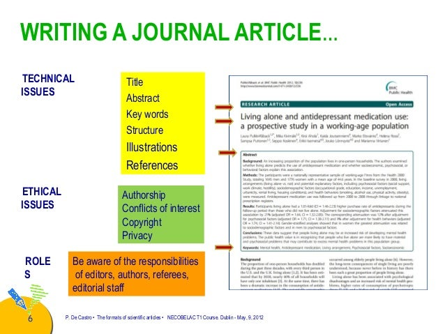 writing a scientific journal