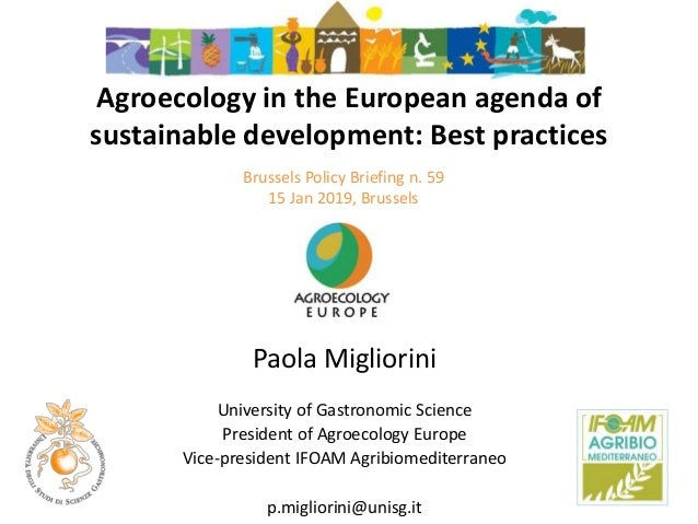 Alexander Wezel ISARA, Lyon, France Agroecology Europe Brussels Policy Briefing n. 59 15 Jan 2019, Brussels Agroecology in...