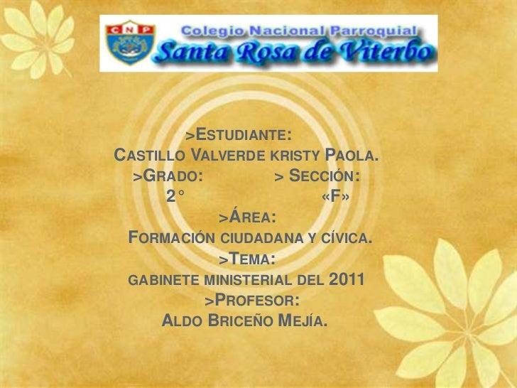 >Estudiante:     Castillo Valverde kristy Paola.                >Grado:            > Sección:  ...