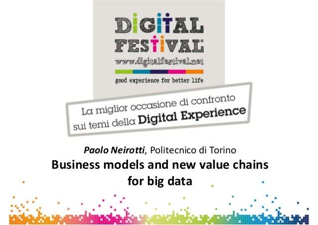 PaoloNeirotti,PolitecnicodiTorinoBusinessmodels andnewvalue chainsforbigdata