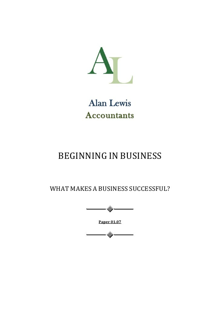 what makes business successful essay