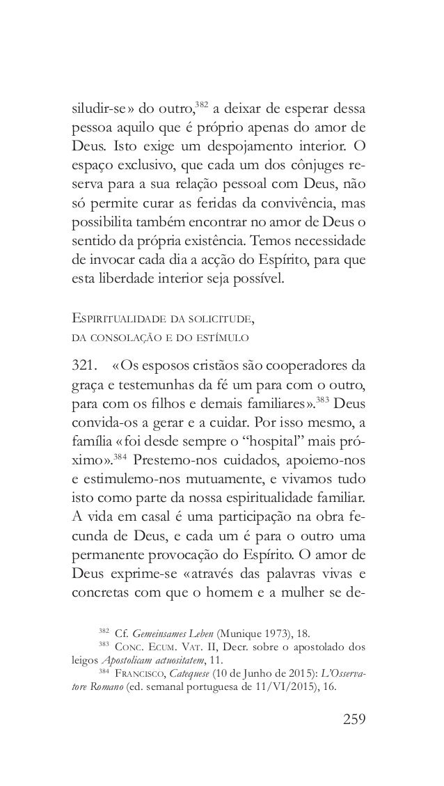 EXORTAÇÃO APOSTÓLICA PÓS-SINODAL AMORIS LÆTITIA DO SANTO PADRE FRANCISCO