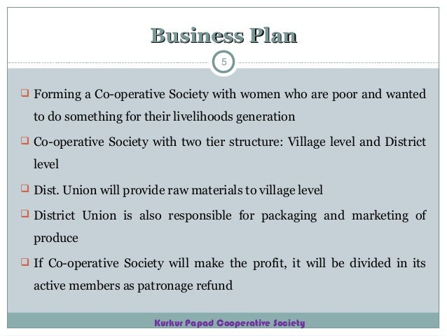 who owns cooperative business plan