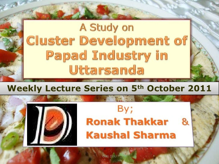 Weekly Lecture Series on 5th October 2011                   CMS DDU