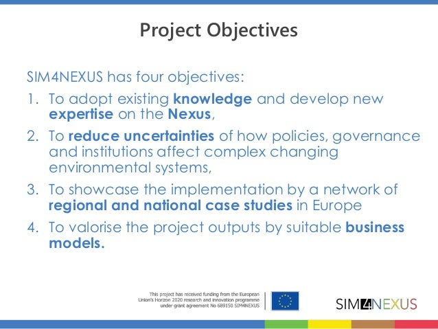 The water-land-food-energy-climate Nexus for a resource efficient Europe Slide 3