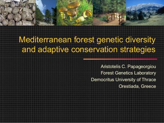 Mediterranean forest genetic diversityand adaptive conservation strategies                       Aristotelis C. Papageorgi...