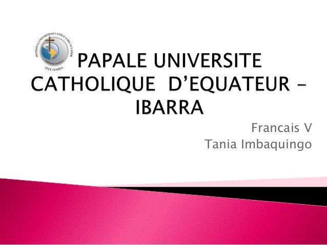 Francais V Tania Imbaquingo