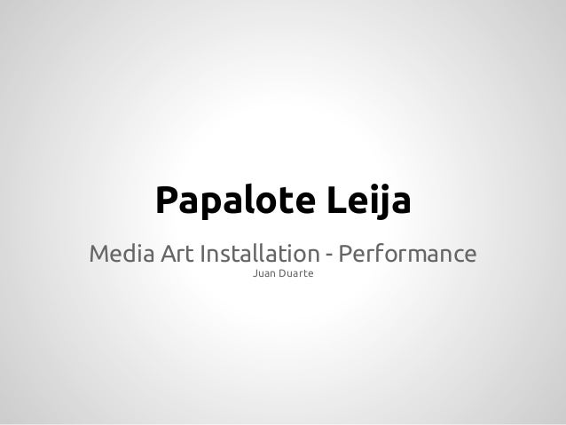 Papalote LeijaMedia Art Installation - Performance               Juan Duarte