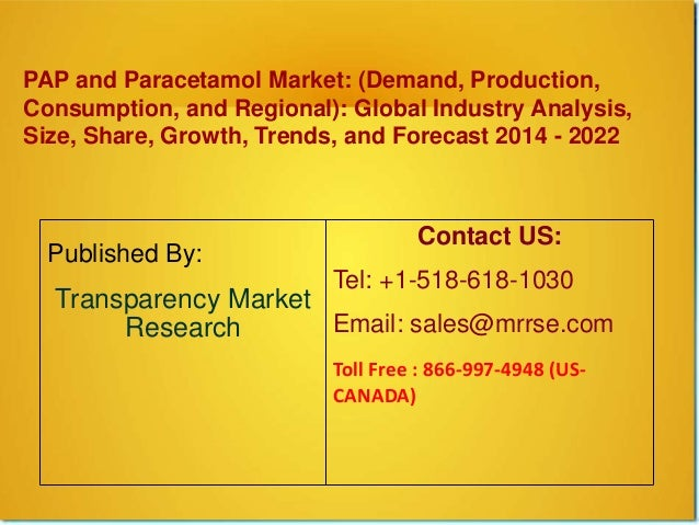 PAP and Paracetamol Market: (Demand, Production, Consumption, and Regional): Global Industry Analysis, Size, Share, Growth...