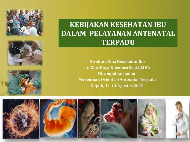 Direktur Bina Kesehatan Ibu dr. Gita Maya Koemara Sakti, MHA Disampaikan pada: Pertemuan Orientasi Antenatal Terpadu Depok...