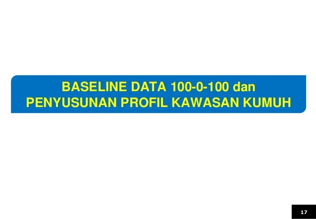 17 BASELINE DATA 100-0-100 dan PENYUSUNAN PROFIL KAWASAN KUMUH