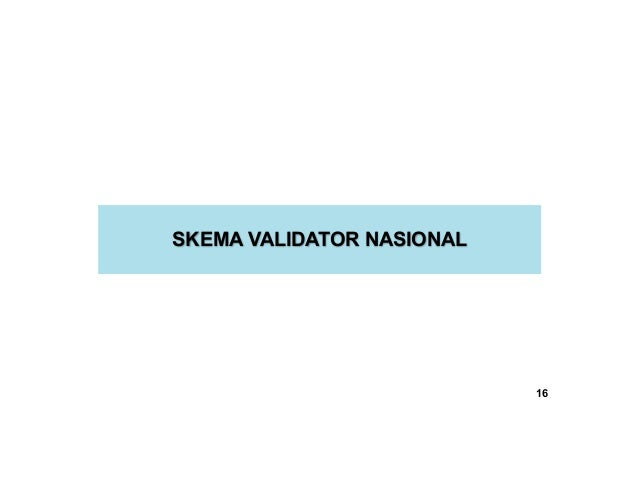 SKEMA VALIDATOR NASIONAL 16