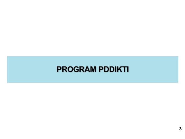 PROGRAM PDDIKTI 3