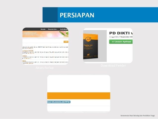PERSIAPAN Akses Forlap DownloadFeeder DownloadPrefil