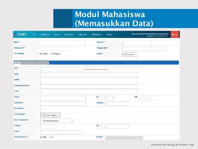 Modul Mahasiswa (Memasukkan Data)