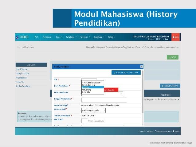 Modul Mahasiswa (History Pendidikan)