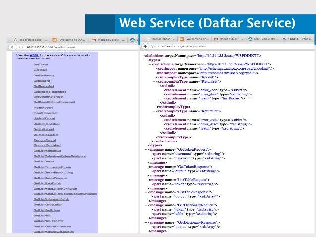 Web Service (Daftar Service)