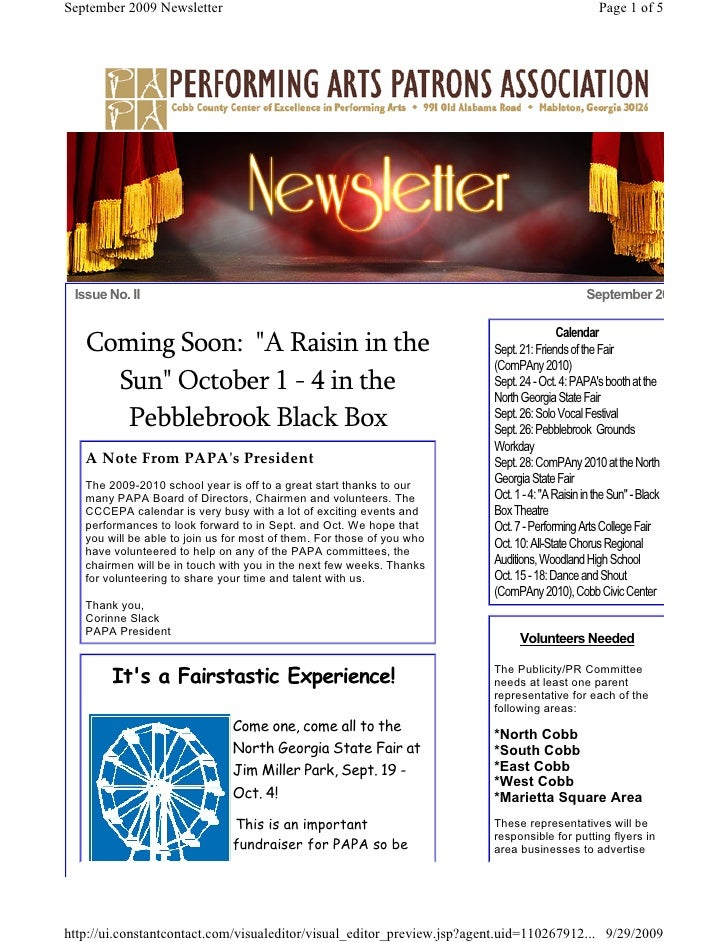 September 2009 Newsletter                                                                        Page 1 of 5      Issue No...