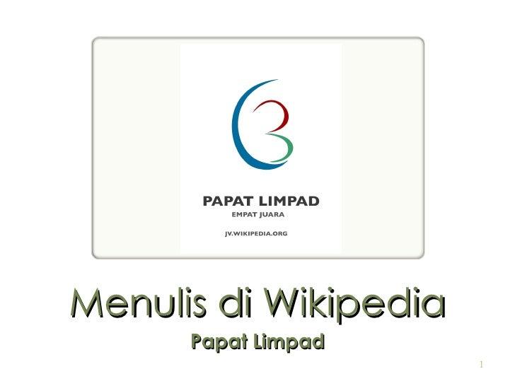 Menulis di Wikipedia Papat Limpad