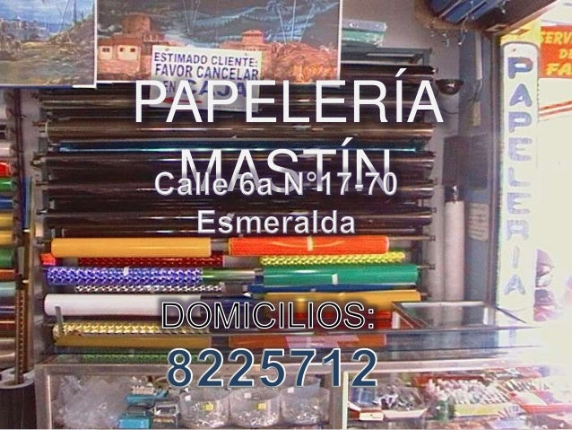PAPELERÍA MASTÍN