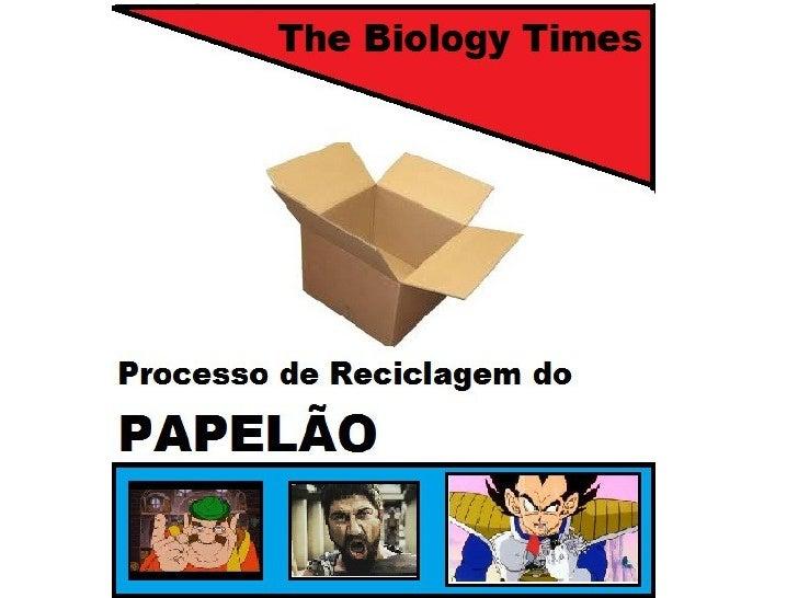 Um Pouco Sobre a Reciclagem do Papelão●           Há duas grandes fontes de papel a se reciclar: as aparas pré-consumo (re...
