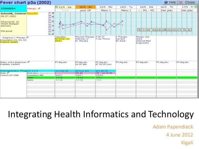 Integrating Health Informatics and Technology Adam Papendieck 4 June 2012 Kigali