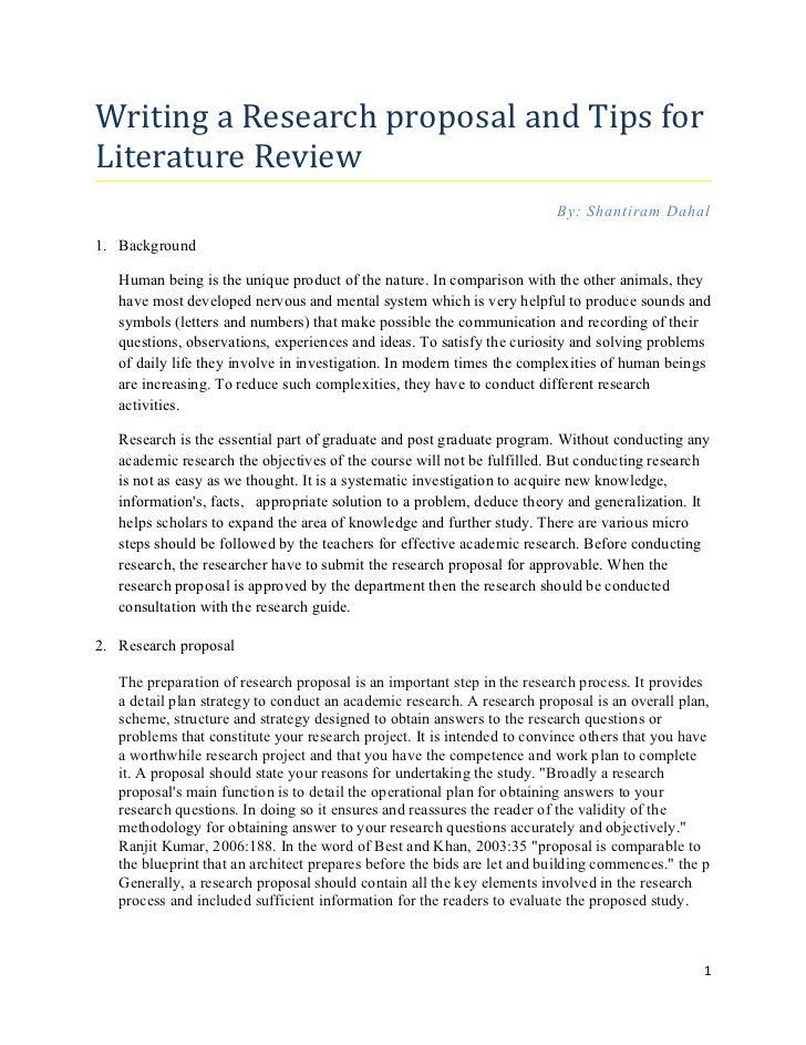 Literature proposal