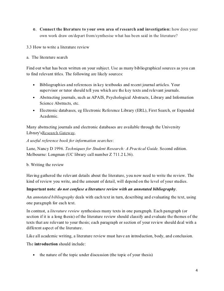 Phd proposal literature review