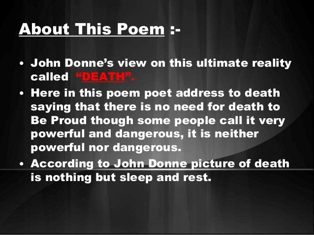 death be not proud poem