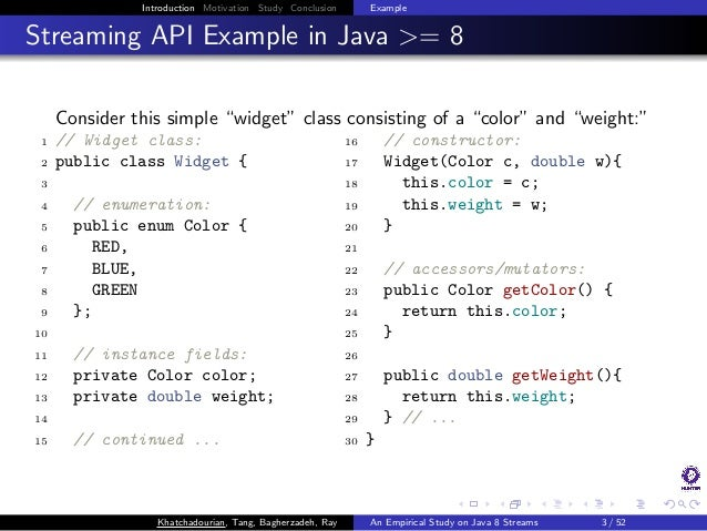 An Empirical Study on the Use and Misuse of Java 8 Streams Slide 3