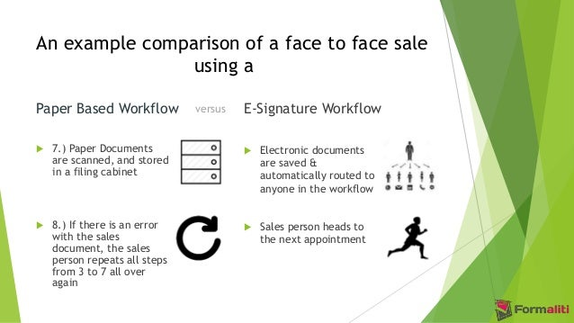 Paper Based Process versus Electronic Signature