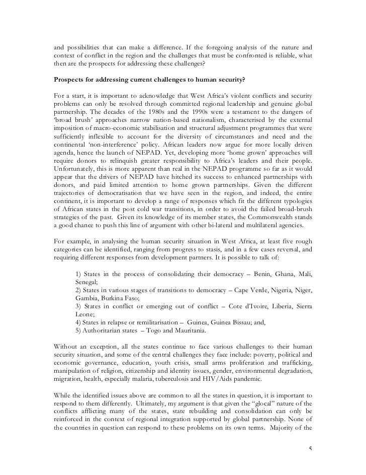the problem of globalization and human security essay 492 amitav acharya th e concept of human security represents a powerful, but controversial, attempt by sections of the academic and policy community to redefi ne and broaden the mean.
