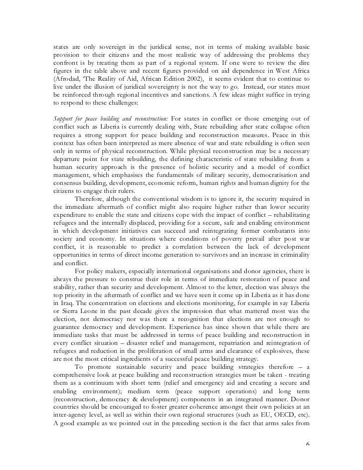 human security essay This essay will focus on the reorganization of the international system  the state  to observe human security and human rights (strange, 2002.