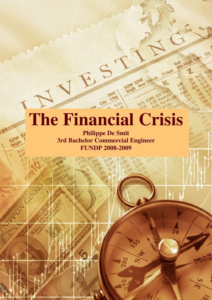 Essay on financial crisis