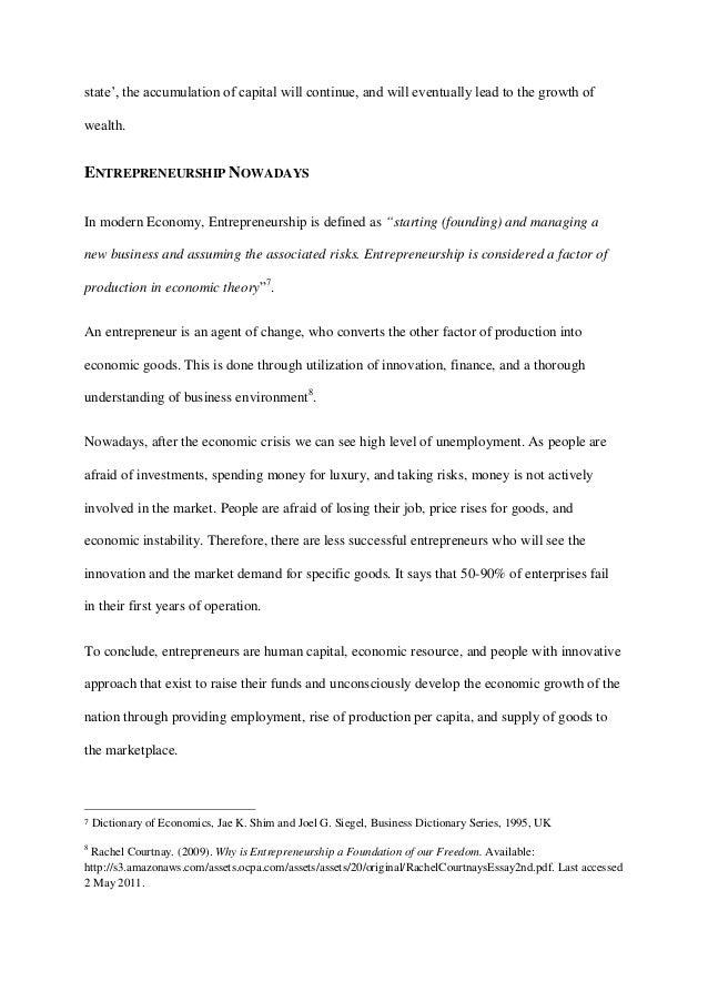 explain the relationship between entrepreneurship and entrepreneur