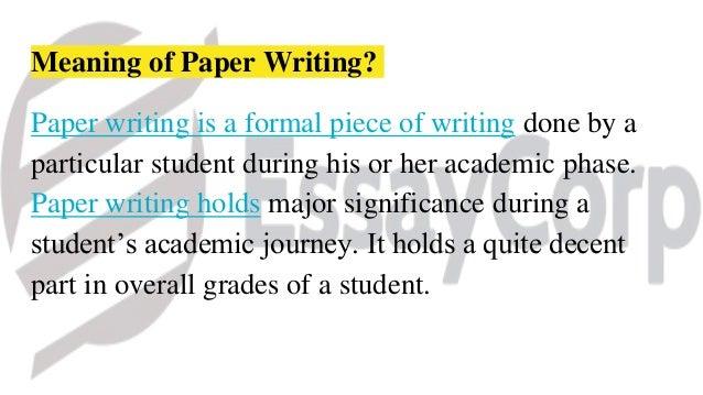 Paper writing helper
