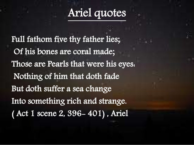 'Ariel is a resentful mulatto'. Compare and contrast the ...