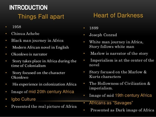 heart of darkness achebe essay Heart of darkness, a novel written by joseph conrad, was published in 1902 the novel is mainly about the experience of the protagonist, marlow, in the congo river.
