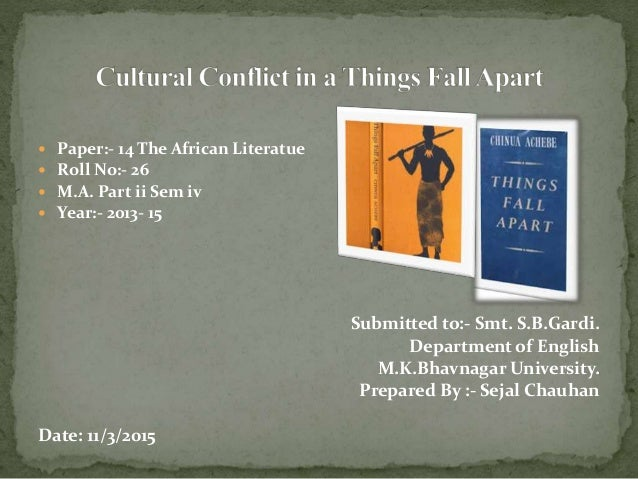 """things fall apart cultural change All five incorporate at least one of the themes found in """"things fall apart"""" and are broad  colonization & cultural change in """"things fall apart"""" by."""