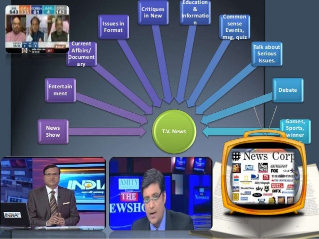 T.V. News News Show Entertain ment Current Affairs/ Document ary Issues in Format Critiques in New Education & Informatio ...