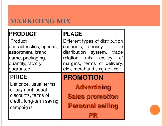 term paper on marketing Marketing mix: product, price, place the term 'product' refers to both tangible physical goods and services need custom paper on marketing.