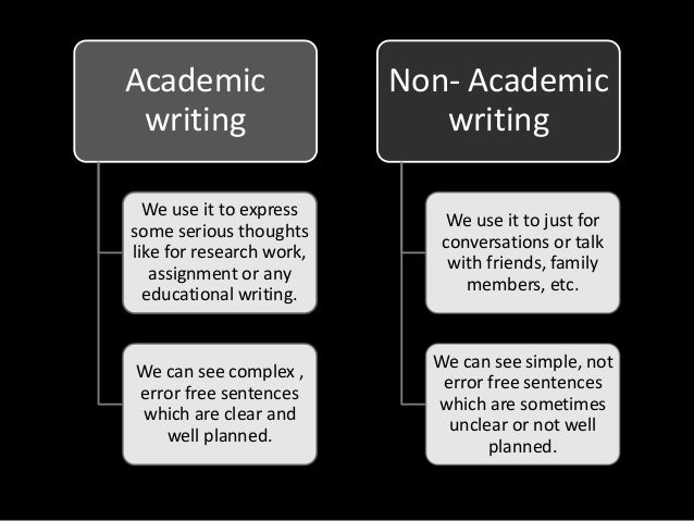 difference between academic and non academic text venn diagram