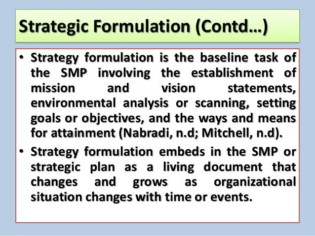 strategy formulation and initial implementation essay We hope to achieve this within 3 months of initial implementation we plan on implementing on 8/4/09  strategy description  appendix c: example implementation .