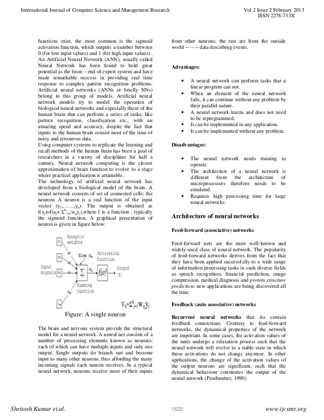 ieee paper on artificial neural network Constructive neural-network learning algorithms for pattern classification rajesh parekh, member index terms artificial neural networks, classification, con- 438 ieee transactions on neural networks, vol 11, no 2.