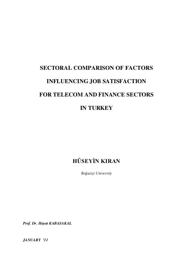 Informative Synthesis Essay Sectoral Comparison Of Factors Influencing Job Satisfaction For Telecom And  Finance Sectors In Turkey Hseyn Kiran  What Is A Thesis In An Essay also Poverty Essay Thesis Sectoral Comparison Of Factors Influencing Job Satisfaction For Telec Essay About Healthy Diet