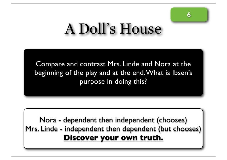 Parallelism and Contrast in A Doll's House