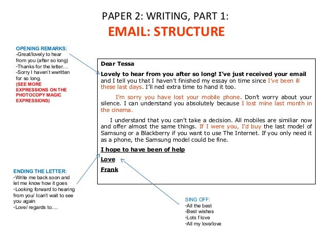Paper 2 writing part 1 2 paper 2 writing part 1 email structure altavistaventures